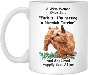 Amazon.com: Norwich Terrier Red Gifts For Dog Mom A Wise
