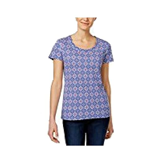 75a7cdc5f05957 Image Unavailable. Image not available for. Color  Charter Club Printed  Cotton T-Shirt