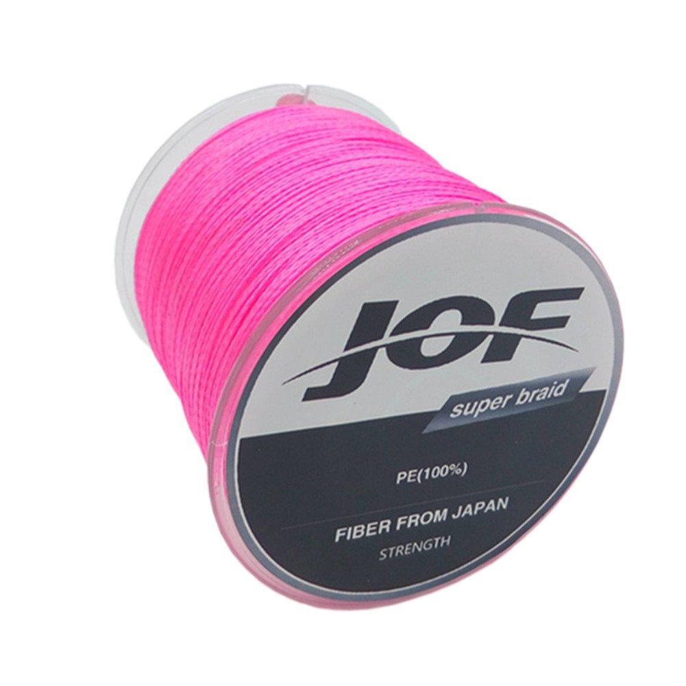 JoF超強力な100メートル4ストランド編組ワイヤ釣り線 B01DKRGFSU  ピンク 8