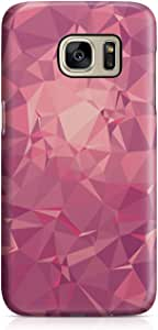 Samsung S7 Case Pretty Pink Geomaterical Pattern Light Weight Clear Edges Samsung S7 Cover Wrap Around