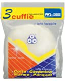 Parodi & Parodi Pulizia Cuffia Lana 3 Dischi Lucidatrice, Tessuto, Bianco, 14x23x1 cm 3 unità