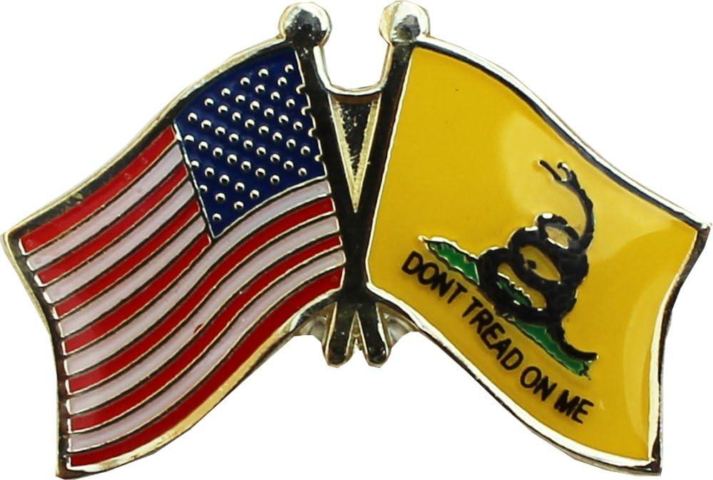 Dont Tread on me Gadsden Flag Lapel Pin DTOM