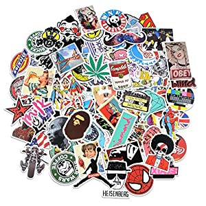 Breezypals 100 Pcs Waterproof Vinyl Stickers for Laptop, Car, Skateboard, Luggage