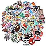 Car Stickers [100 pcs], Breezypals Laptop Stickers Motorcycle Bicycle Skateboard Luggage Decal Graffiti Patches Stickers for Laptop [No-Duplicate Sticker Pack]