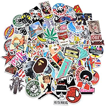 Stickers [100 pcs], Breezypals Laptop Stickers Car Motorcycle Bicycle  Luggage Decal Graffiti Patches