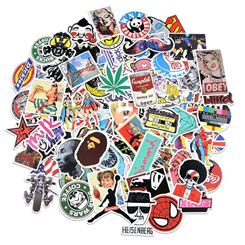 100 Pc Sticker Pack Laptop Car Bike Luge Dope Supreme Hypebeast Bape Slaps
