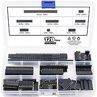 ARCELI 120 st 2,54 mm rak PCB-bräda hona stifthuvud kontakt band sortiment kit för prototypskärm (en rad)