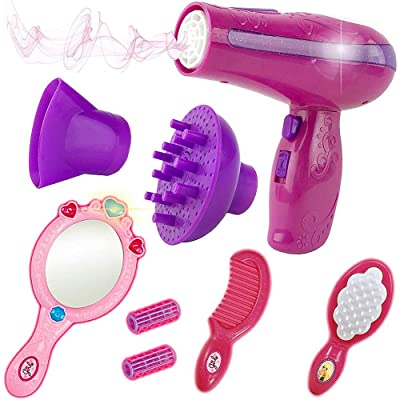 Liberty Imports Vogue Girls Beauty Salon Styling Fashion Pretend Play Set with Toy Hairdryer, Mirror and Styling Accessories: Toys & Games