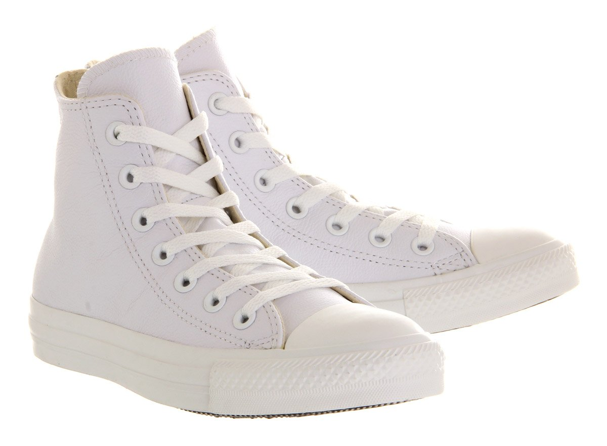 Converse Chuck Taylor All Star Leather High Top Sneaker B0778YRF7Y 39-40 M EU / 8.5 B(M) US Women / 6.5 D(M) US Men|White Mono