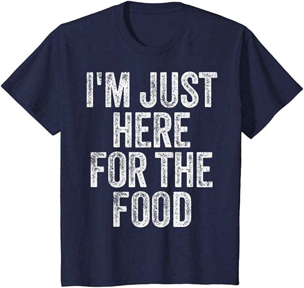 Aonani & Partner I'm Just Here for The Food Funny Humor Foodie Joke T Shirt