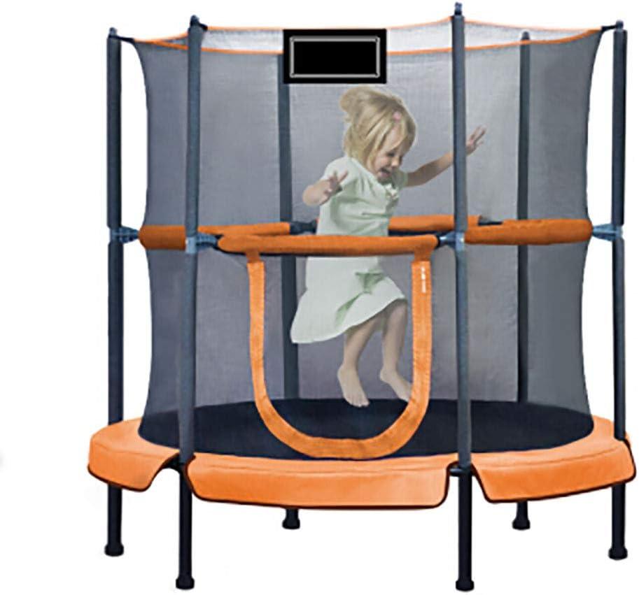 Cama De Fitness para Niños De 107 Cm En El Hogar, Cama Elástica con Pasamanos De 360 ° para Niños Cama De Salto para Niños En Interiores Y Exteriores