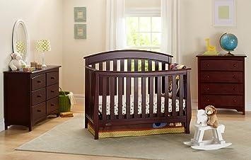 Amazon.com : Graco Suri Convertible Crib, Classic Cherry ...