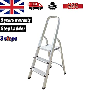 7-Tread Ladder Aluminium Step Ladders Portable Folding with 150 kg Capacity
