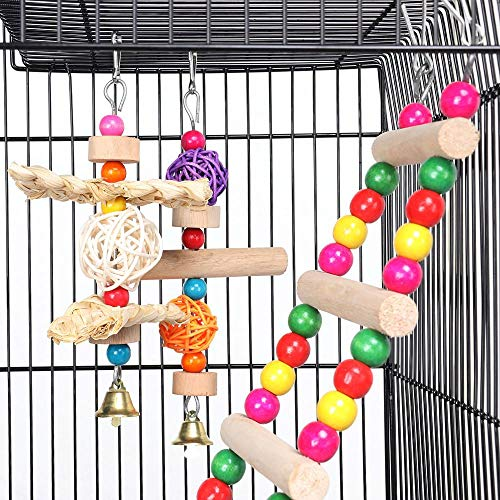 Yaheetech Roof Top Large Parakeet Flight Bird Cage for Mid-sized Parrots Cockatiels Sun Conures Green Cheek Parakeets Budgies Lovebird Parrotlets Canary Finch Pet Bird Cage w/1 Ladder & 2 Hanging Toys