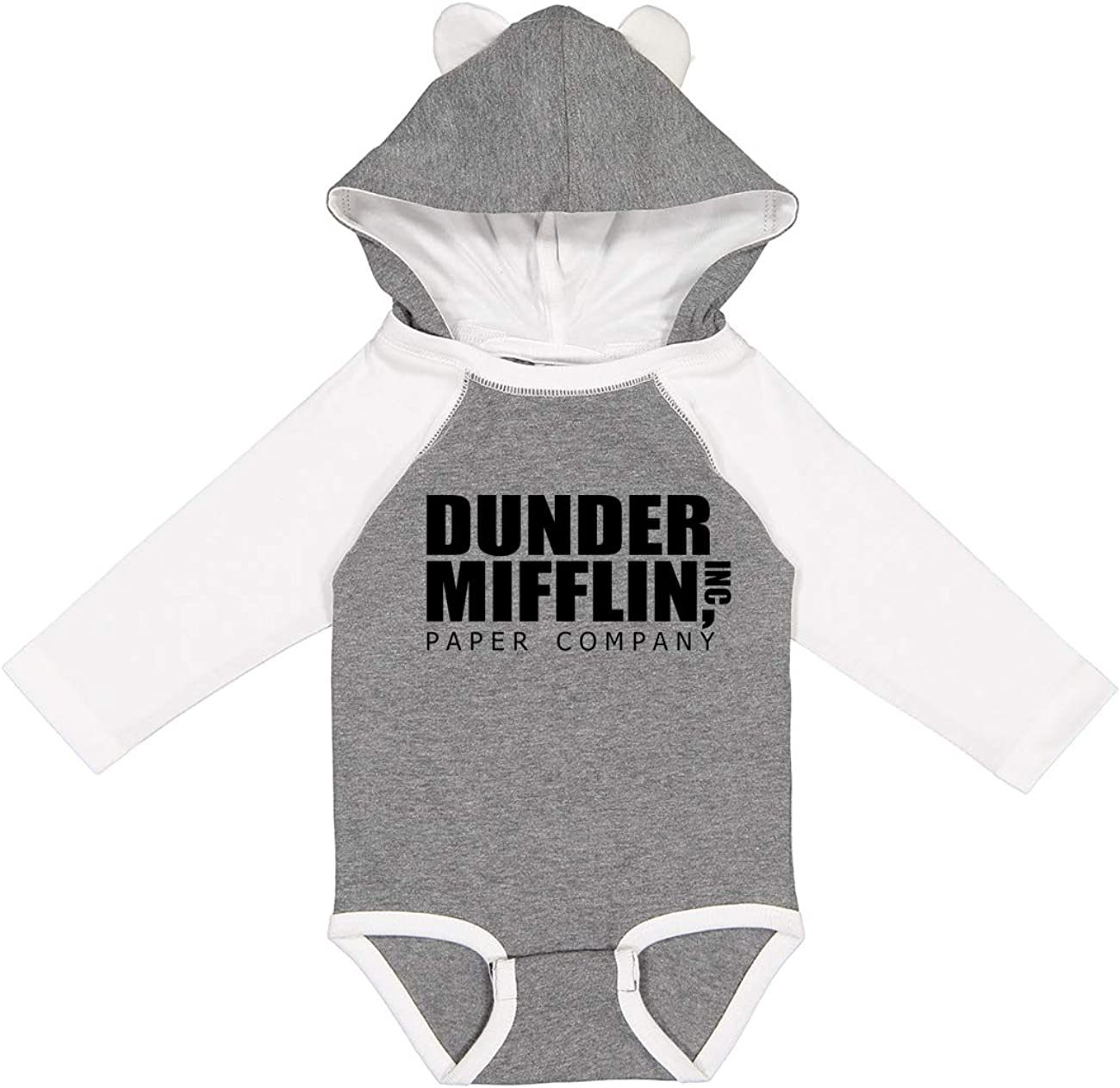 NorthStarTees The Office Dunder Mifflin Long Sleeve Baby Onesie with Ears