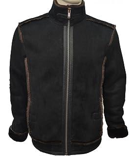 9bd6905cb58f9 Zavelio Men s Genuine Shearling Sheepskin Leather Classic Winter Fur ...