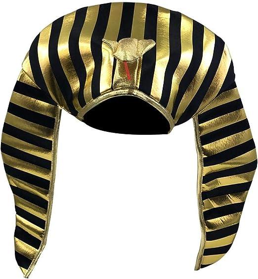 Wood.L - Sombrero de faraón Egipcio para Disfraz de Halloween ...