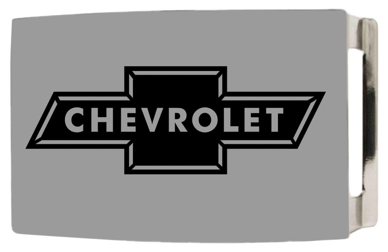 Chevrolet Automobile Company Matte Bowtie Logo Rockstar Belt Buckle Buckle Down