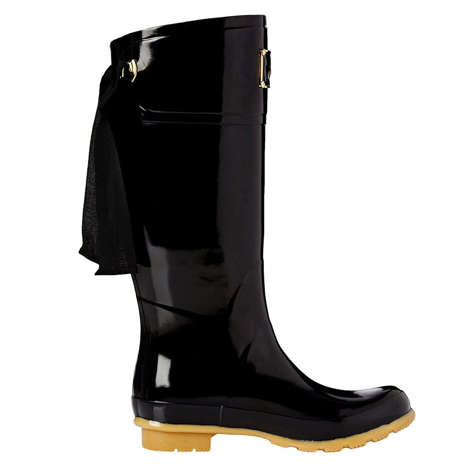 Joules Evedon Black Womens Rain Boots Size 9M