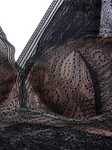 Imbottito Bralette Intimate Portal Leggermente Nero e Donna Morbide Senza Reggiseno con Coppe Imperatrice Ferretto Z14gwY4q