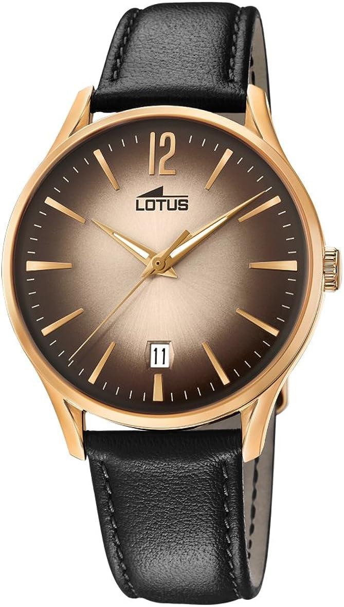 Lotus Watches Reloj Análogo clásico para Hombre de Cuarzo con Correa en Cuero 18404/2