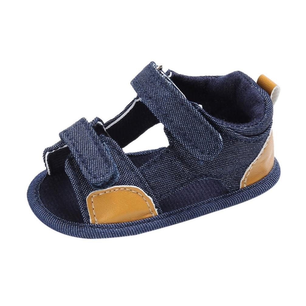 Bonjouree Sandales Bébé Garçon Chaussures Souples Ete pour Enfant Garçon Bleu)