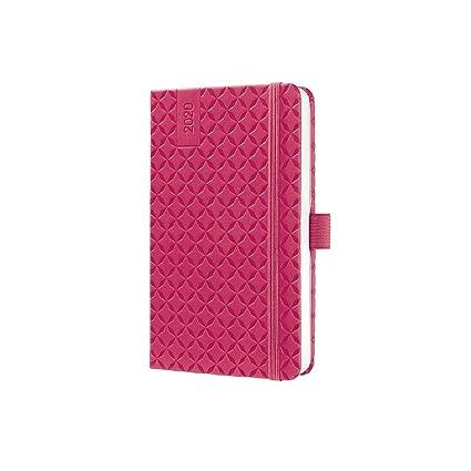 SIGEL J0104 Agenda semanal Jolie 2020, tapa dura, 9,5 x 15 cm, color rosa