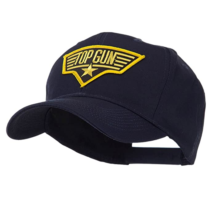 US Navy Top Gun Patch Cap - Gold Black OSFM  Amazon.in  Clothing    Accessories b0771341573b