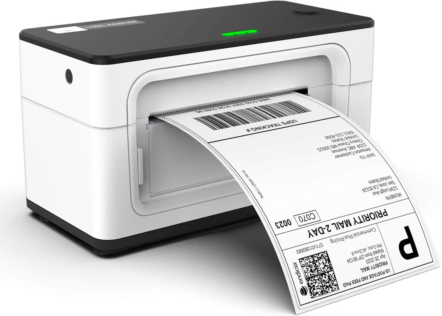 MUNBYN Thermal Label Printer 4x6, High Speed Direct USB Thermal Barcode 4×6 Shipping Label Printer Marker Writer Machine, One Click Set up,Compatible with Ebay, Amazon, FedEx,UPS,Shopify,USPS,Etsy