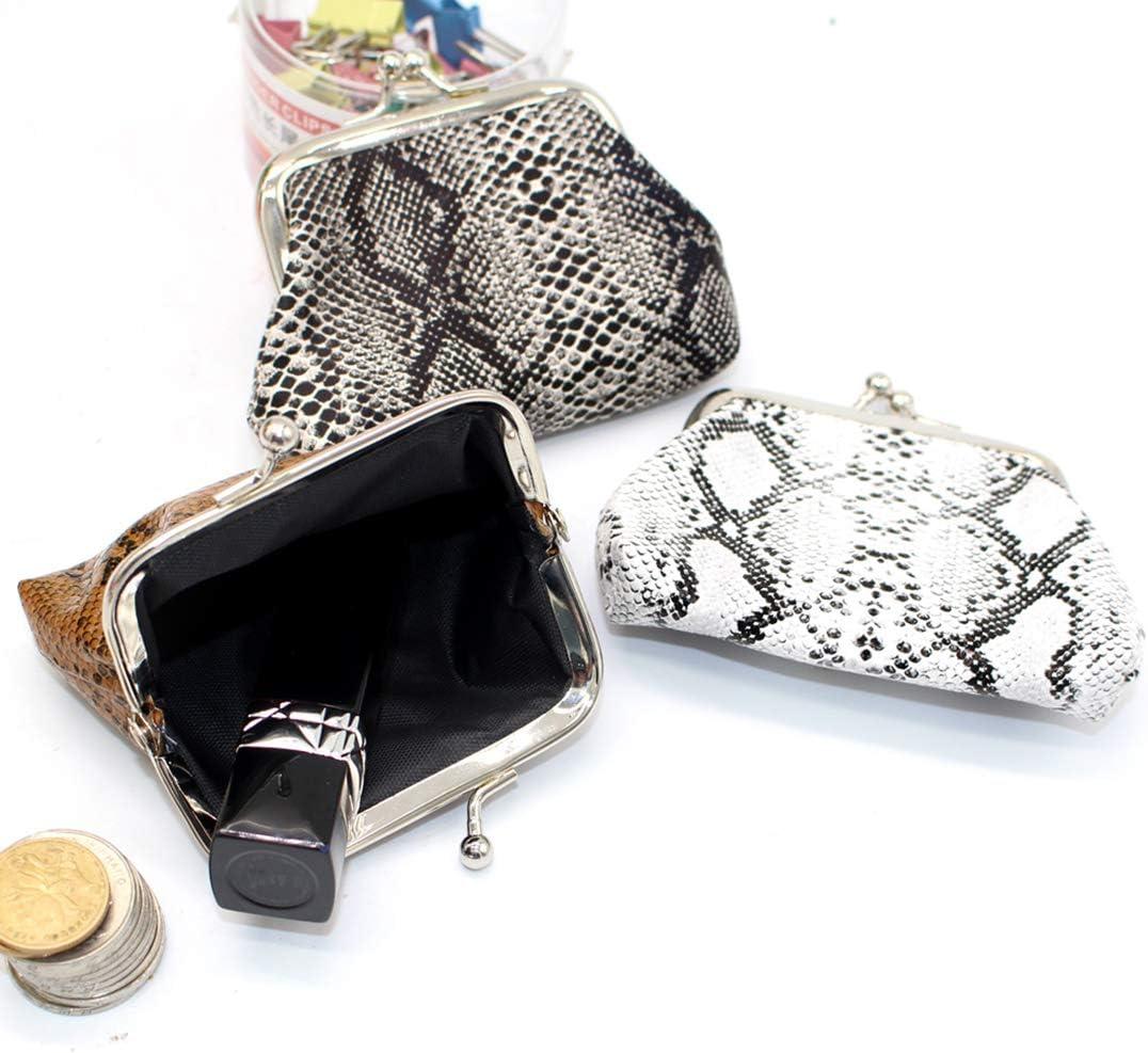 Oyachic 4 Pi/èces Mignonne Porte Monnaie Porte-Monnaie Femme Bourse Pochette Cute Coin Purse Large Change Pouch Kiss-Lock Wallet 4pcs Mod/èle de Coccinelle