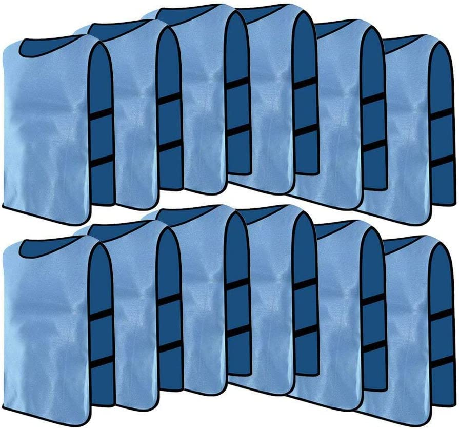 12 Pack Jerseys Bibs Breathable Adults Football Scrimmage Training Vests for Volleyball Soccer Basketball VGEBY