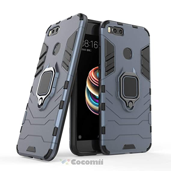 detailed look ab04f c9485 Cocomii Black Panther Armor Xiaomi Mi A1/Mi 5X Case New [Heavy Duty]  Tactical Metal Ring Grip Kickstand Shockproof Bumper [Works with Magnetic  Car ...