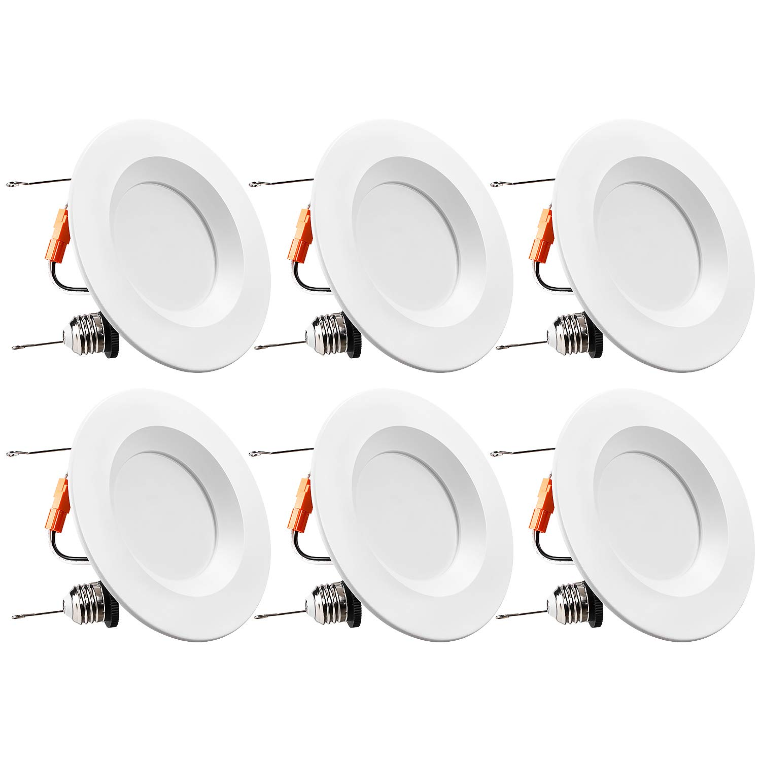 TORCHSTAR 5/6 Inch Dimmable LED Retrofit Recessed Downlight, 15W (120W Equivalent), Energy Star & UL-Listed, CRI90+, 1100lm, 5000K Daylight, 5 Years Warranty, Pack of 6