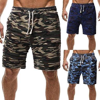 Pantaloni Corti Bermuda Cargo Pantaloncini Uomo Cotone