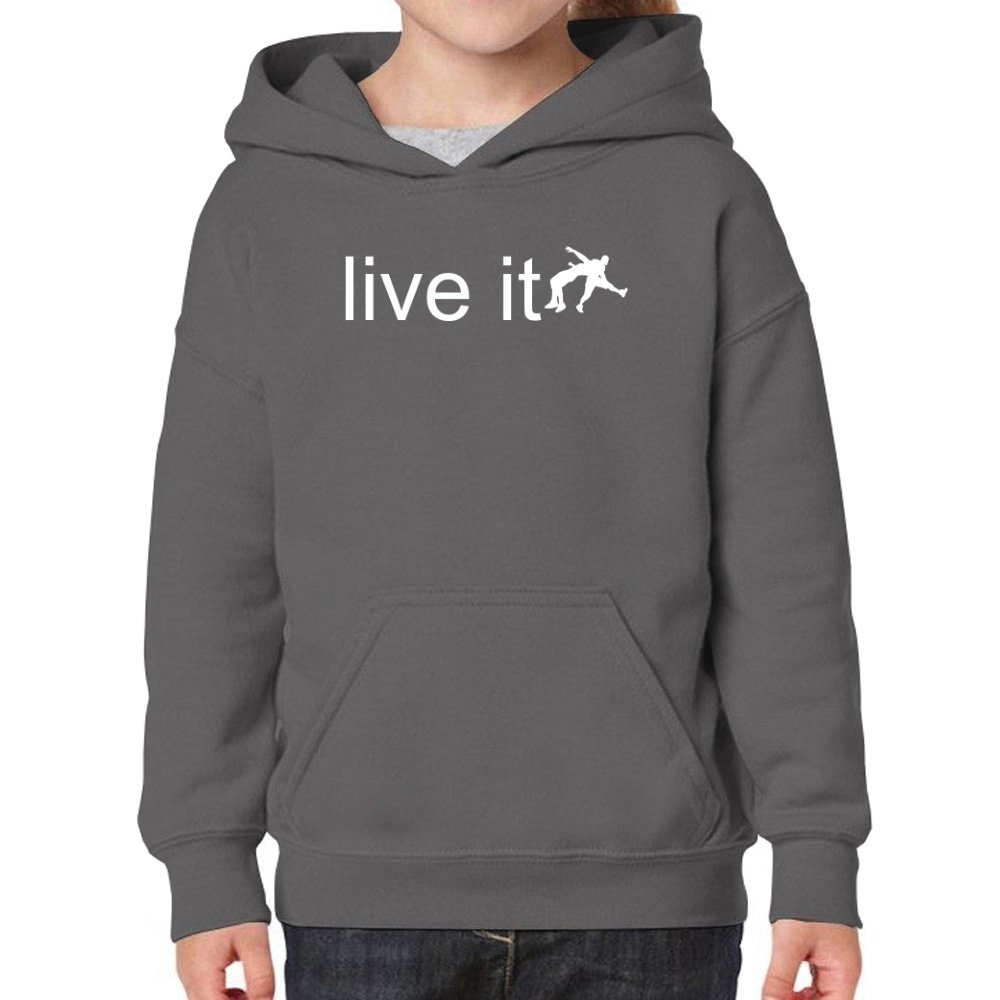 Teeburon Live it Wrestling Silhouette Girl Hoodie by Teeburon