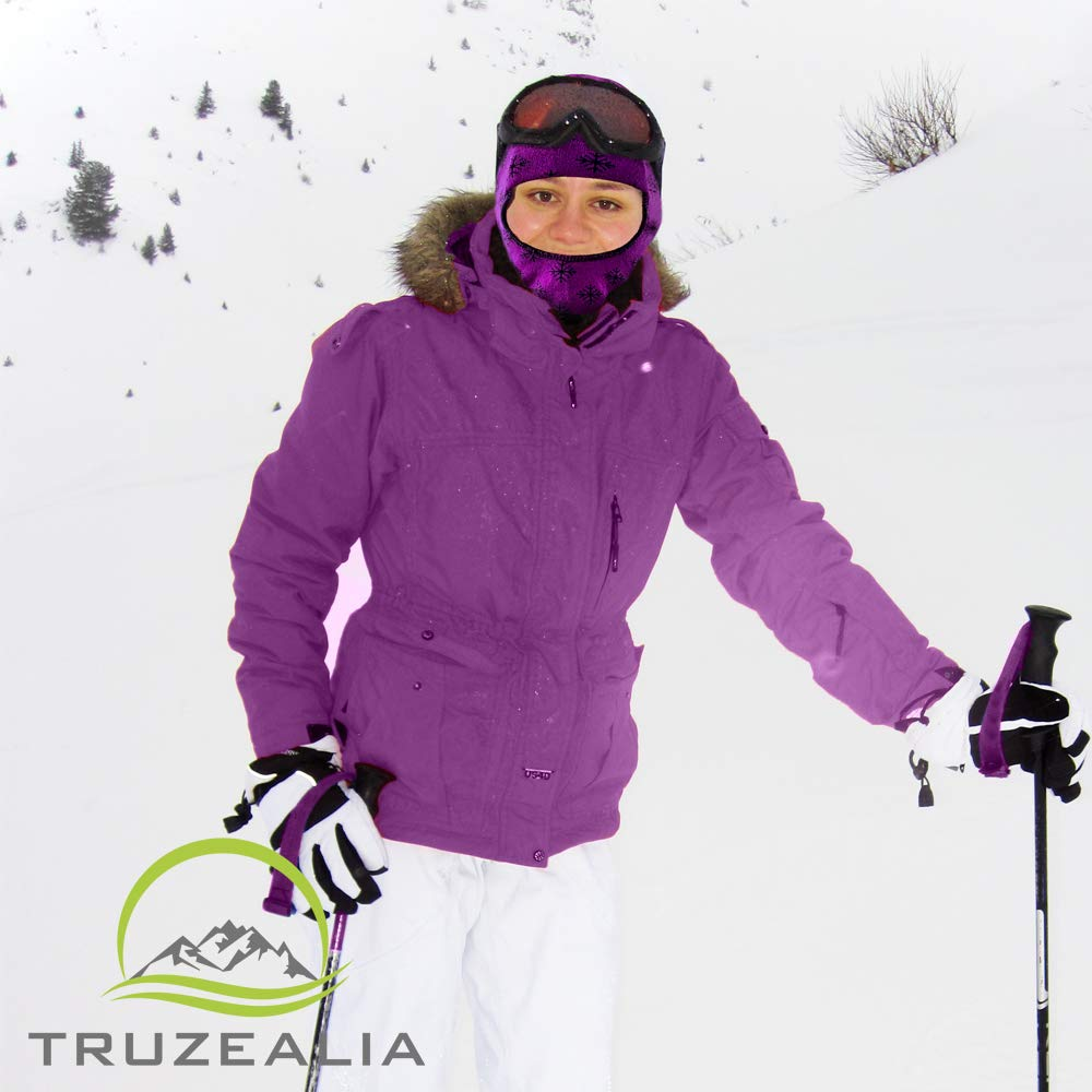 Balaclava Outdoor Wear Hat Cap Unisex New Zealand Made Merino Wool Luxurious Warmth and Soft with a Light Weight Stretchy Face Mask Stylish Unique Moisture Wicking with Thermal Properties Purple by Truzealia (Image #2)