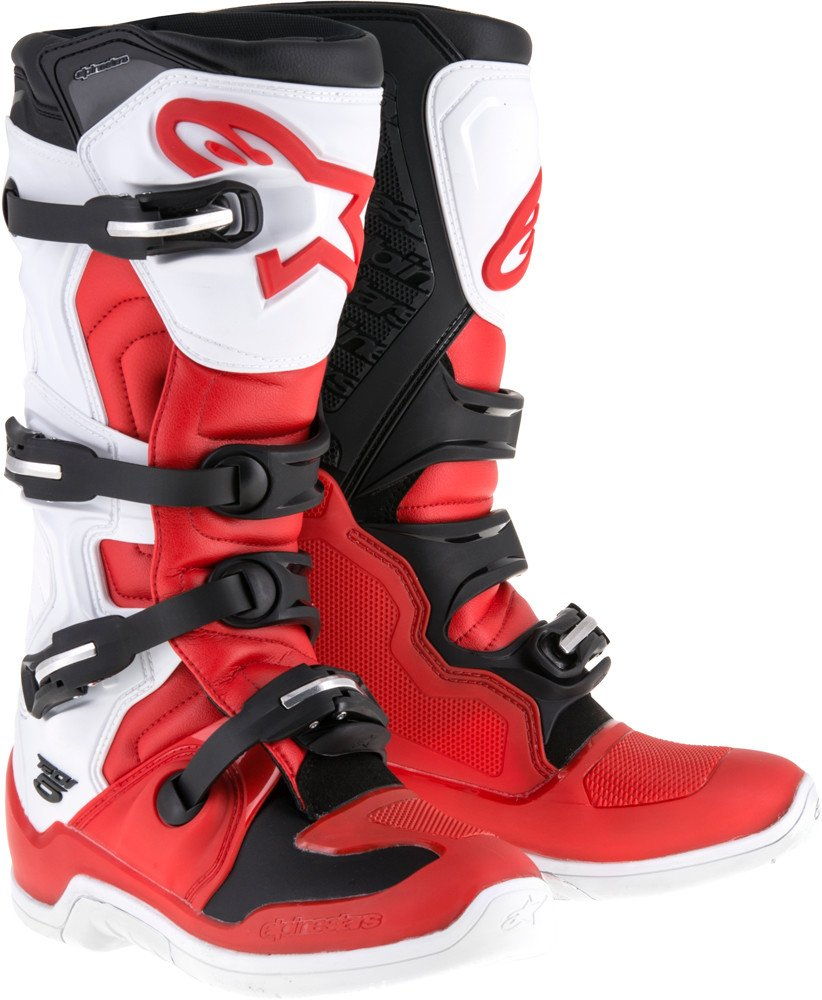 Alpinestars Tech-5 Boots (12) (RED/WHITE/BLACK)