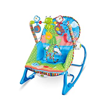 a1d224850 LZTET Silla Bouncers Silla Mecedora De Bebé Multifunción Vibración Música  Comodidad Silla Reclinable Cuna De Juguete,Blue: Amazon.es: Hogar