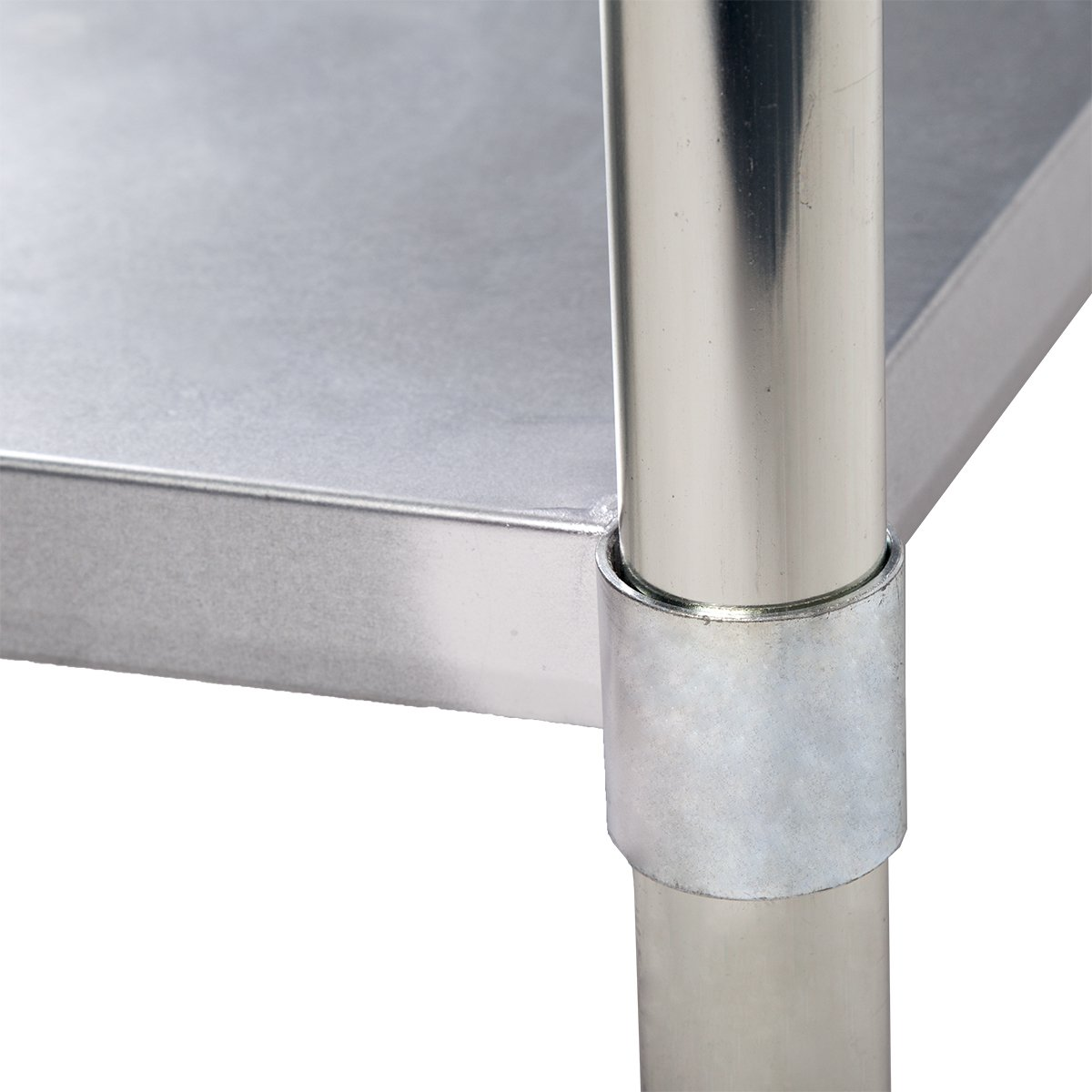 24''x48'' Stainless Steel Work Table with Backsplash Kitchen Restaurant Table EB by BestMassage (Image #5)