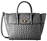 PIFUREN Fashion Women Handbags Leather Crocodile Purse Top Handle Satchel Bags C68732L(Grey)