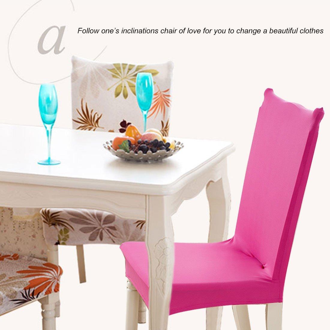 Amazon.com: Presidente eDealMax elástico desmontable lavable corto protector de la cubierta de fundas de asiento para el partido de boda restaurante de ...