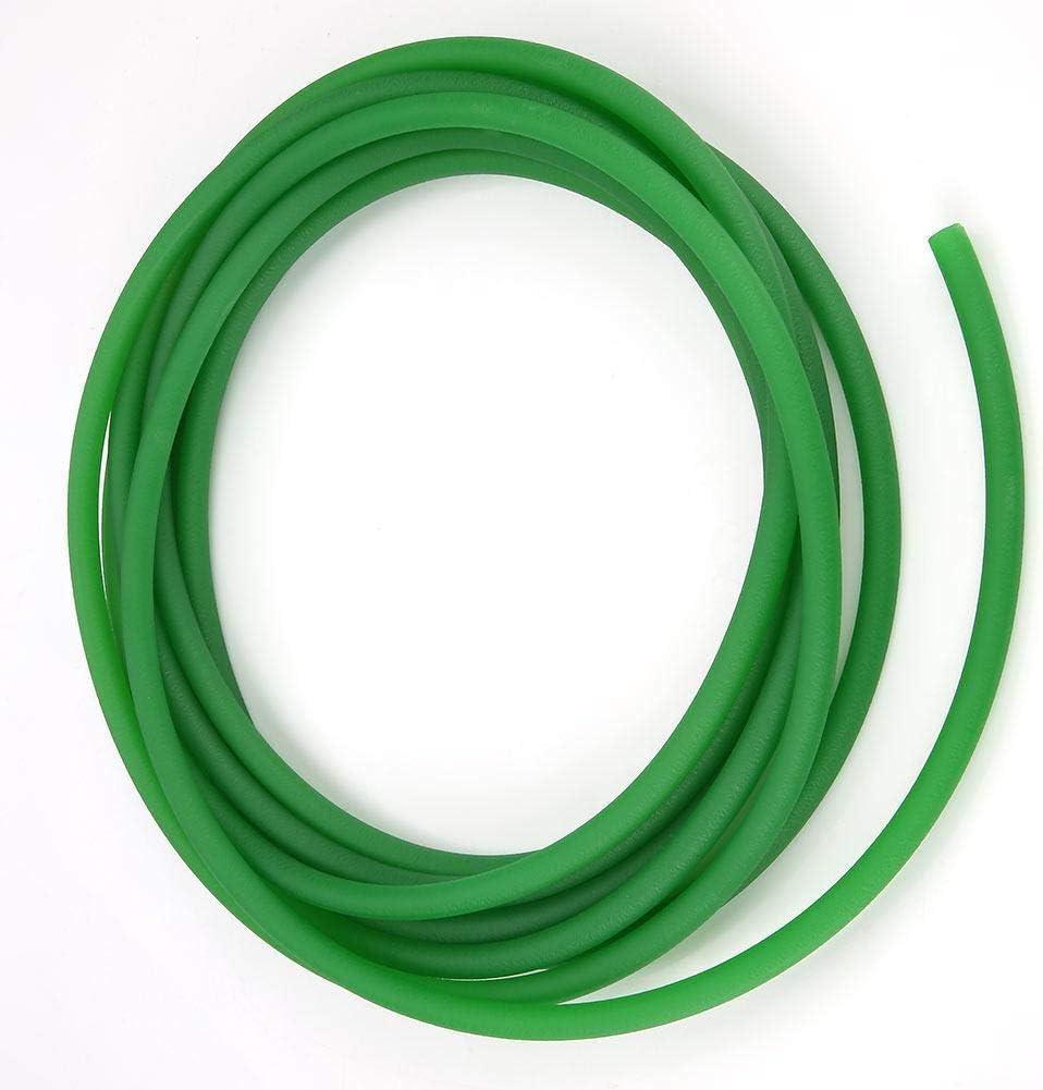 4mm * 10m Hyuduo Courroie Ronde en ur/éthane /à Haute Performance Ceinture Ronde en polyur/éthane Surface Rugueuse Verte pour la Transmission