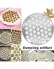 Symboat Herramientas de Molde de Dumpling de 37 Agujeros Aluminio moldes de raviolis Cocina Pelmeni Herramientas