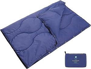 EEZEE Multipurpose Lightweight Compact Travel Outdoor Blanket, Warm Down Alternative Camping Packable Waterproof Blanket for Airplane, Hiking, Backpacking, Stadium, Park, Home,Hammock