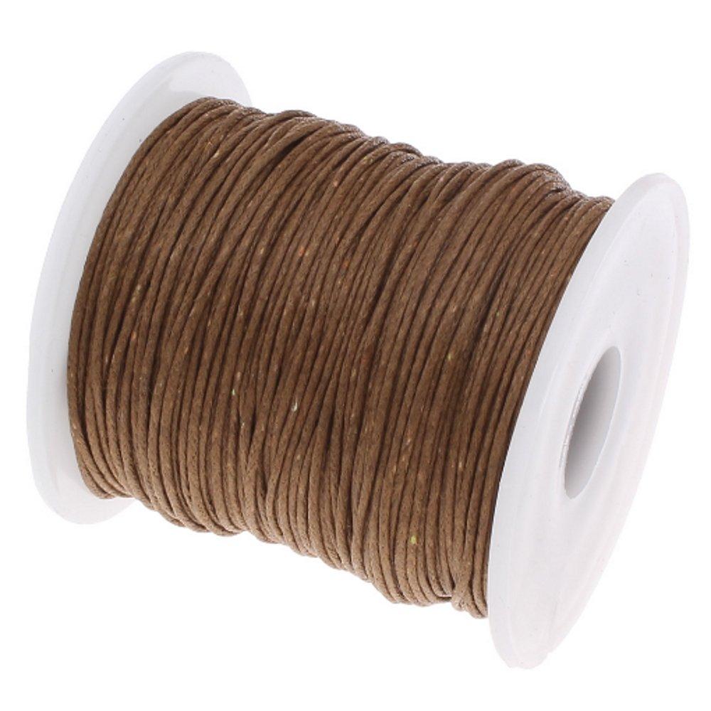 My-Bead Waxschnur Baumwollschnur gewachst 1mm 90m coffee braun Top Qualit/ät Schmuckherstellung basteln DIY