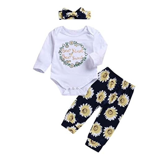 44c45a28555a Amazon.com  LNGRY Baby Girls Outfits