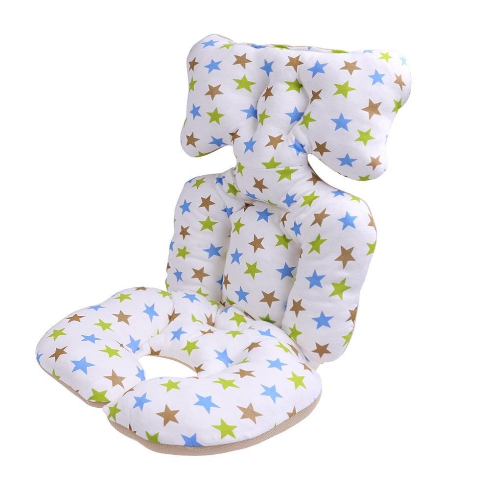 Baby Cart Seat Cushion, Akaddy Cartoon Print Soft Cotton Head Fixed Thickened Pad Cushion