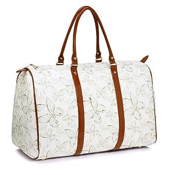 c6c48b3f5cb7a Anna Grace Vintage Reisetasche Blumenmuster Wasserdicht Weekender Tasche  Duffle Bag Groß Wochenend Tasche Herren Damen (