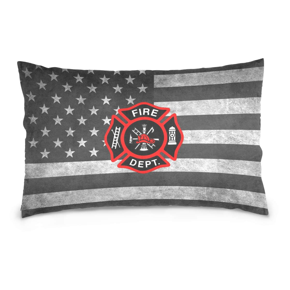 ポエティシティ消防士消防士 ロゴレスキュー枕ケース ソファベッド コットンジッパースロー枕カバー 16