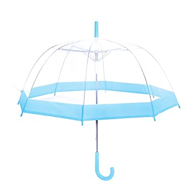 df682fbca27e Rainbrace Clear Bubble Umbrella Auto Open Upgraded with Reinforced  Fibergrass Ribs, Transparent Clear Dome Shape for Women and Kids